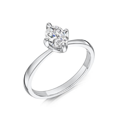 0.4 Carat GIA GVS Diamond solitaire 18ct White Gold. Oval diamond Engagement Ring, MWSS-1177/040